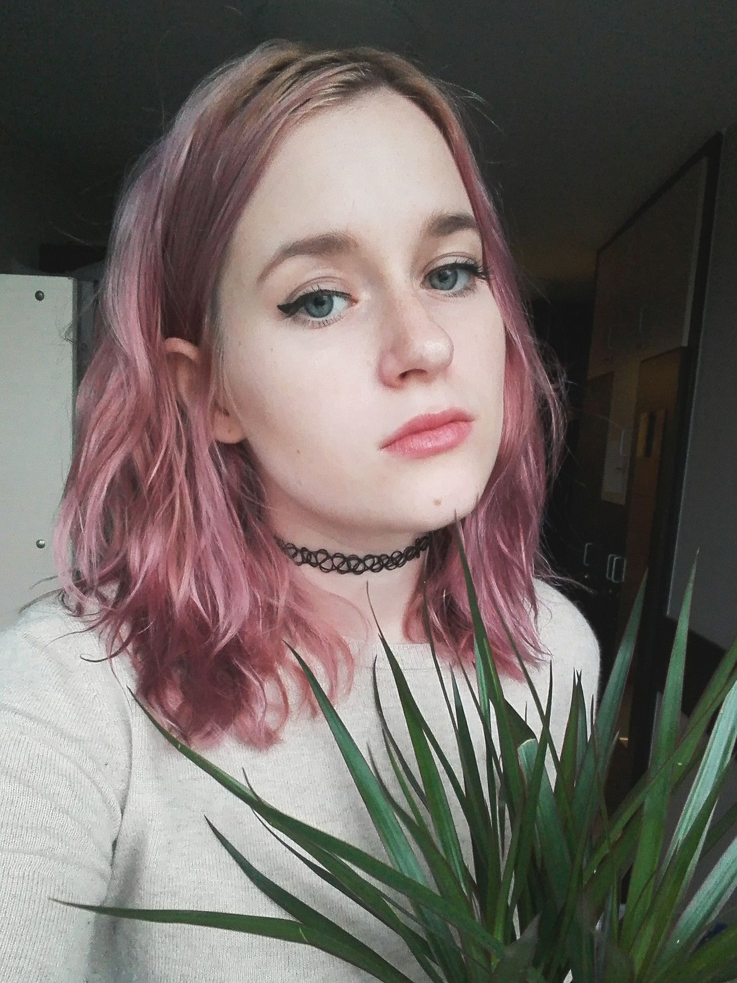 Light Pink Hair Color Pink Lips And Blue Eyes Love Hair Hair Styles Pastel Hair