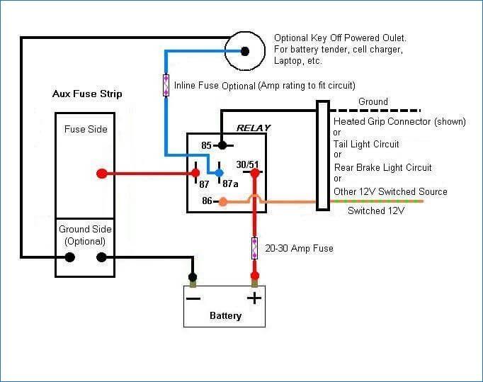 12v Relay Wiring Diagram 5 Pin ...