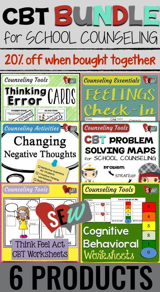 Cognitive Behavioral Therapy CBT Activities Bundle Cbt