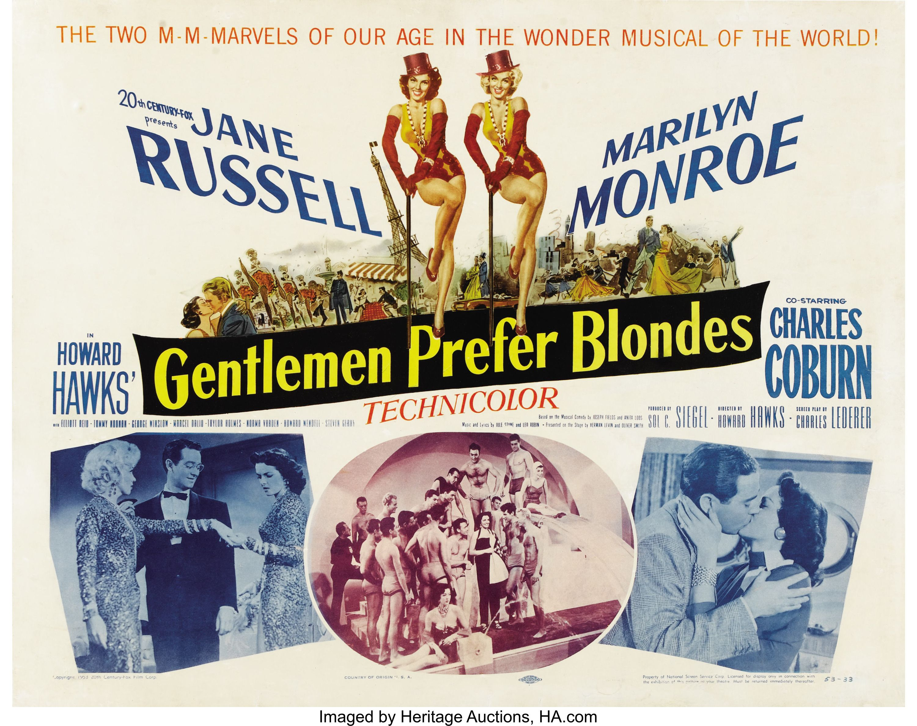 Two Marilyn Monroe//Jane Russell music sheets