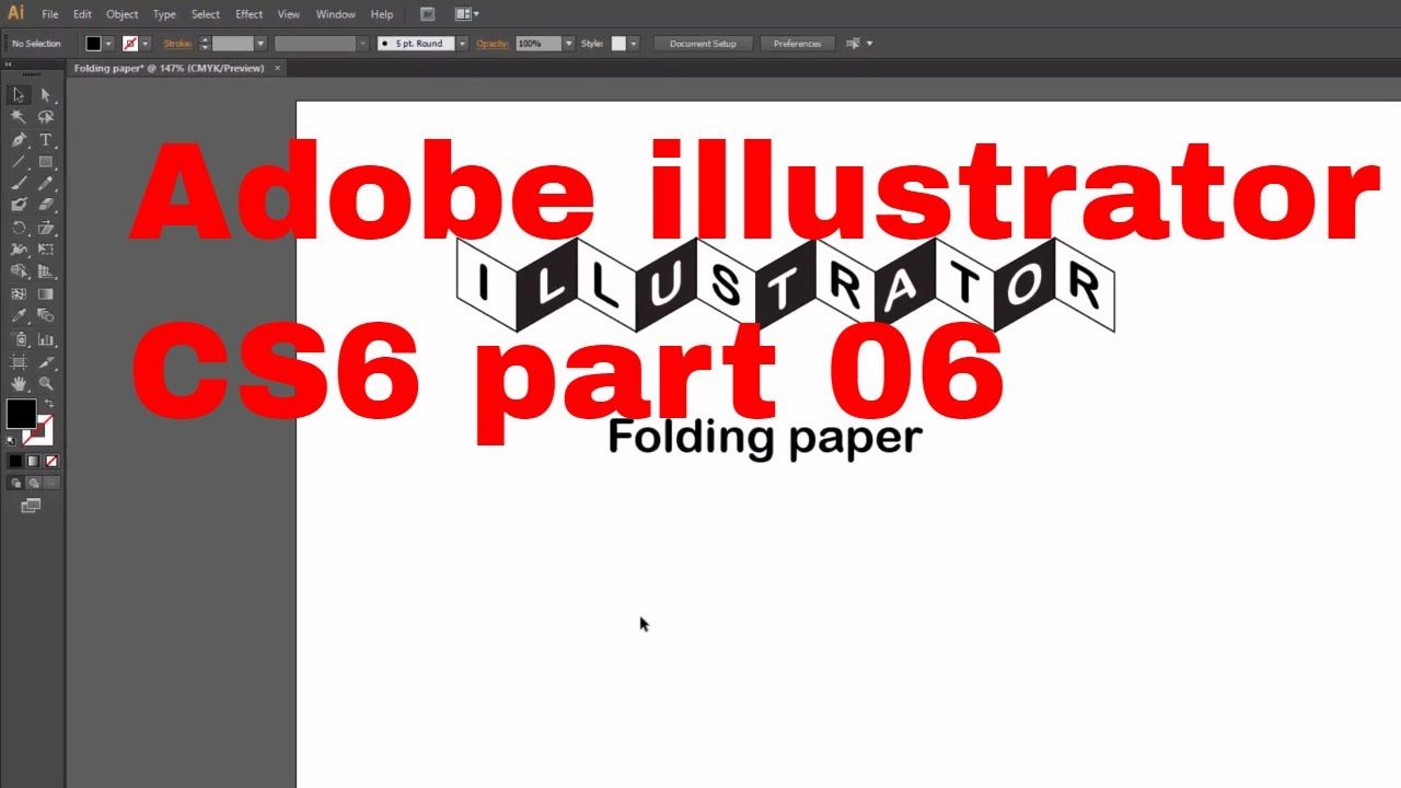 Folding paper practice by shear, rectangle & type tool