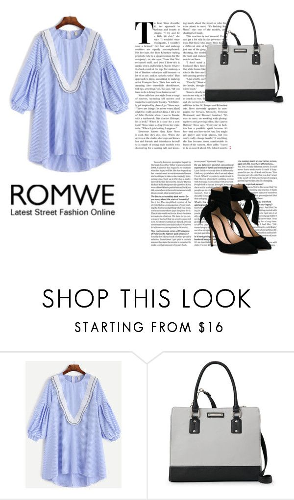 """romwe"" by ulna1 ❤ liked on Polyvore featuring Nine West and Gianvito Rossi"