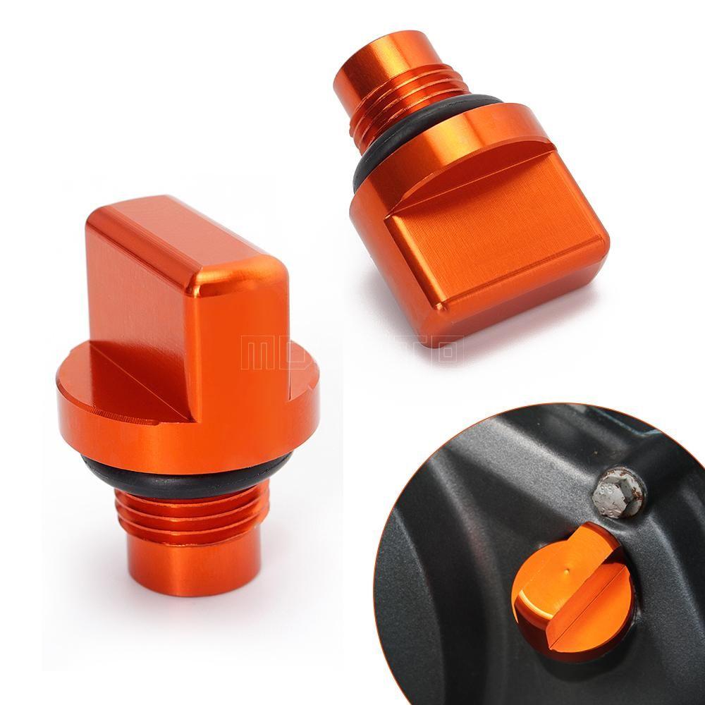 New Motorcycle Accessories Cnc Orange Engine Magnetic Oil Drain Plug For Ktm Duke 125 200 390 Duke390 Duke125 Ktm Dirt Bike Accessories Motorcycle Accessories