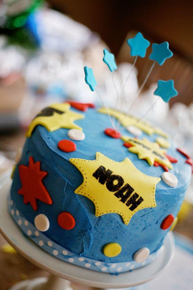 How to make a SUPER superhero cake Superhero birthday cake