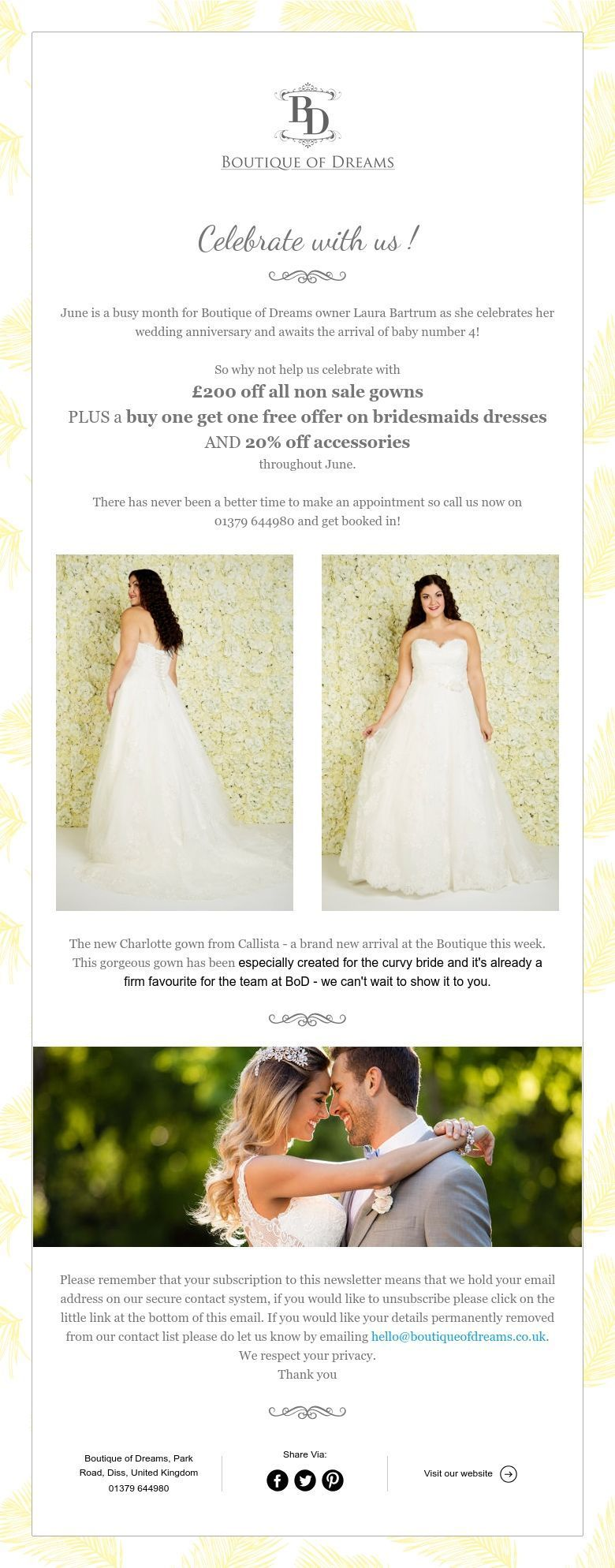 Wear your wedding dress on your anniversary  Boutique of Dreams BoDbridalwear on Pinterest