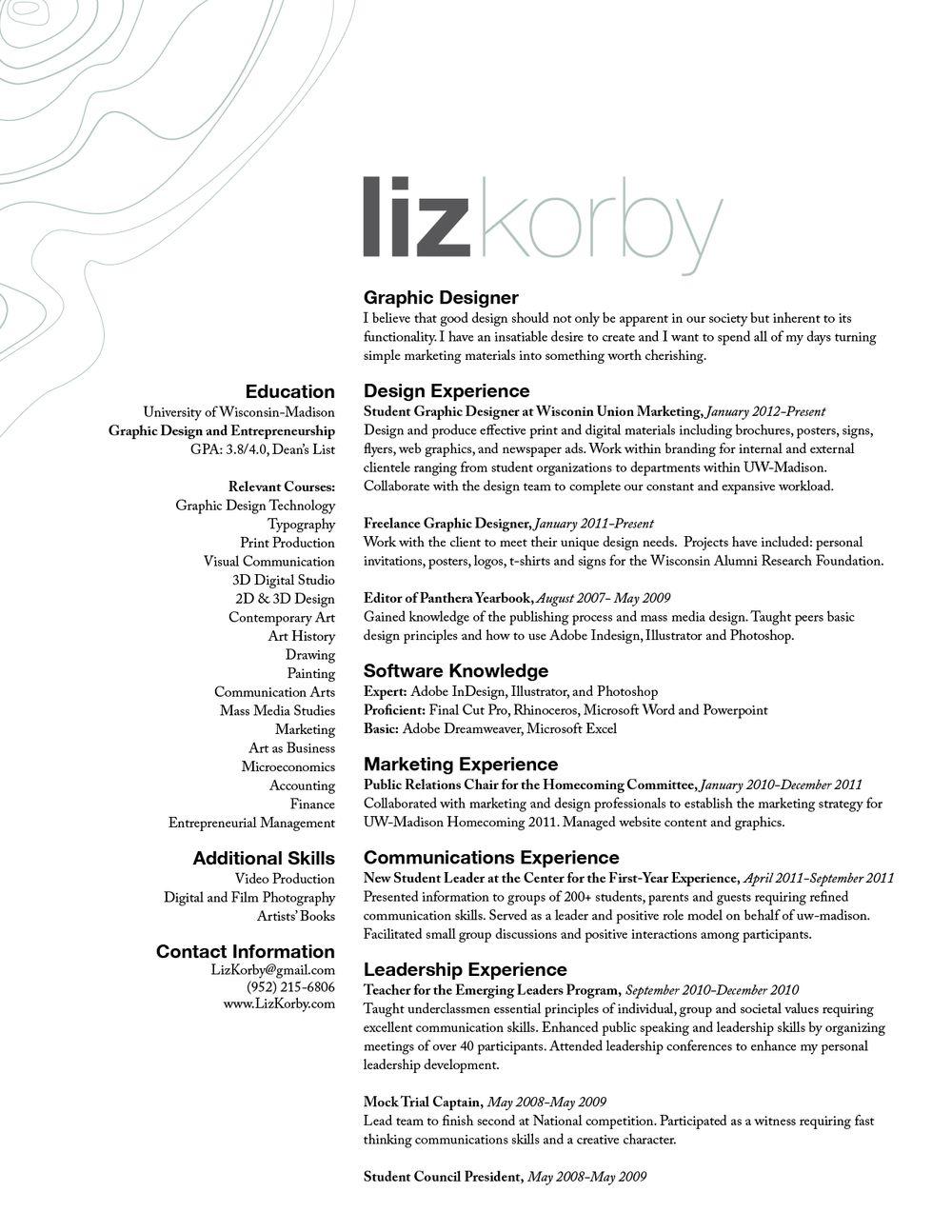 public artist resume template