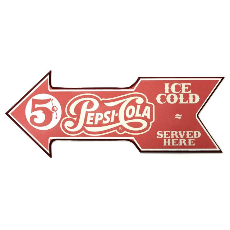 8 X 20-in Pepsi Served Here Sign