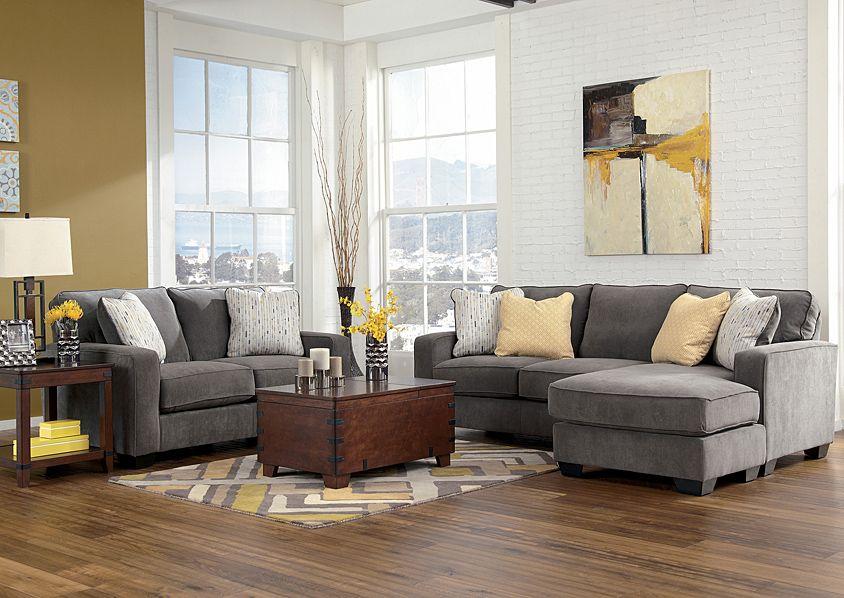 Austinu0027s Couch Potatoes | Furniture Stores Austin, Texas Hodan Marble Sofa  Chaise U0026 Loveseat