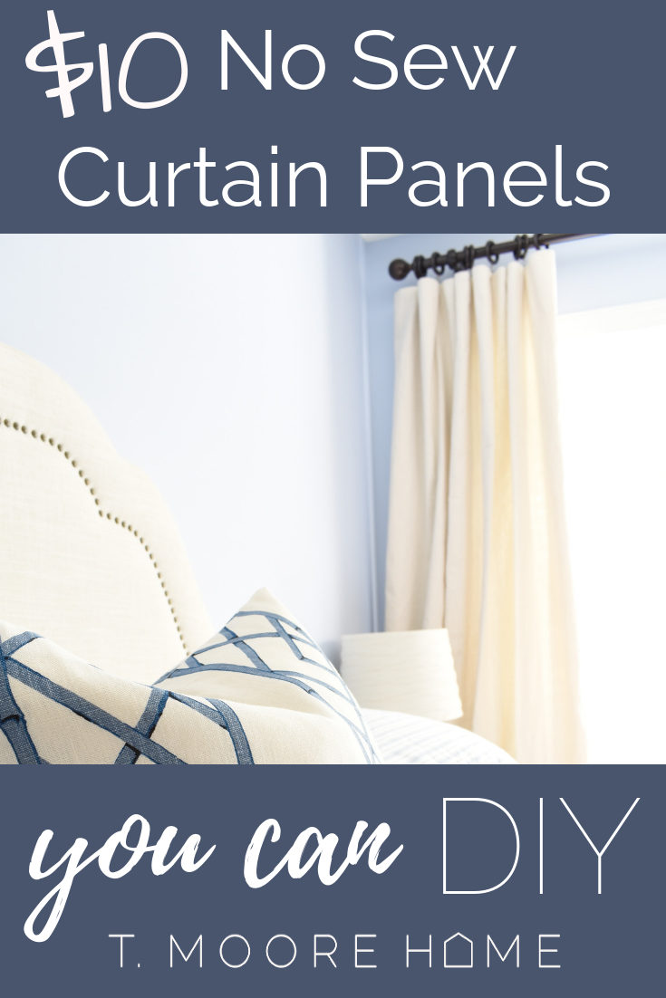 How To Diy Cheap Curtain Panels One Day Guest Room Refresh No