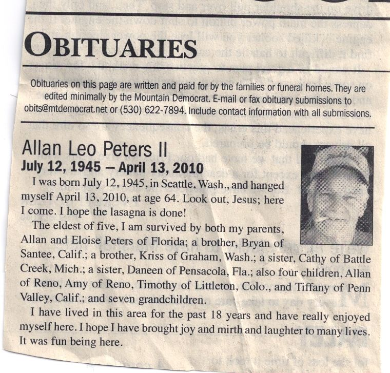 Newspaper Obituary Template Check more at https ...