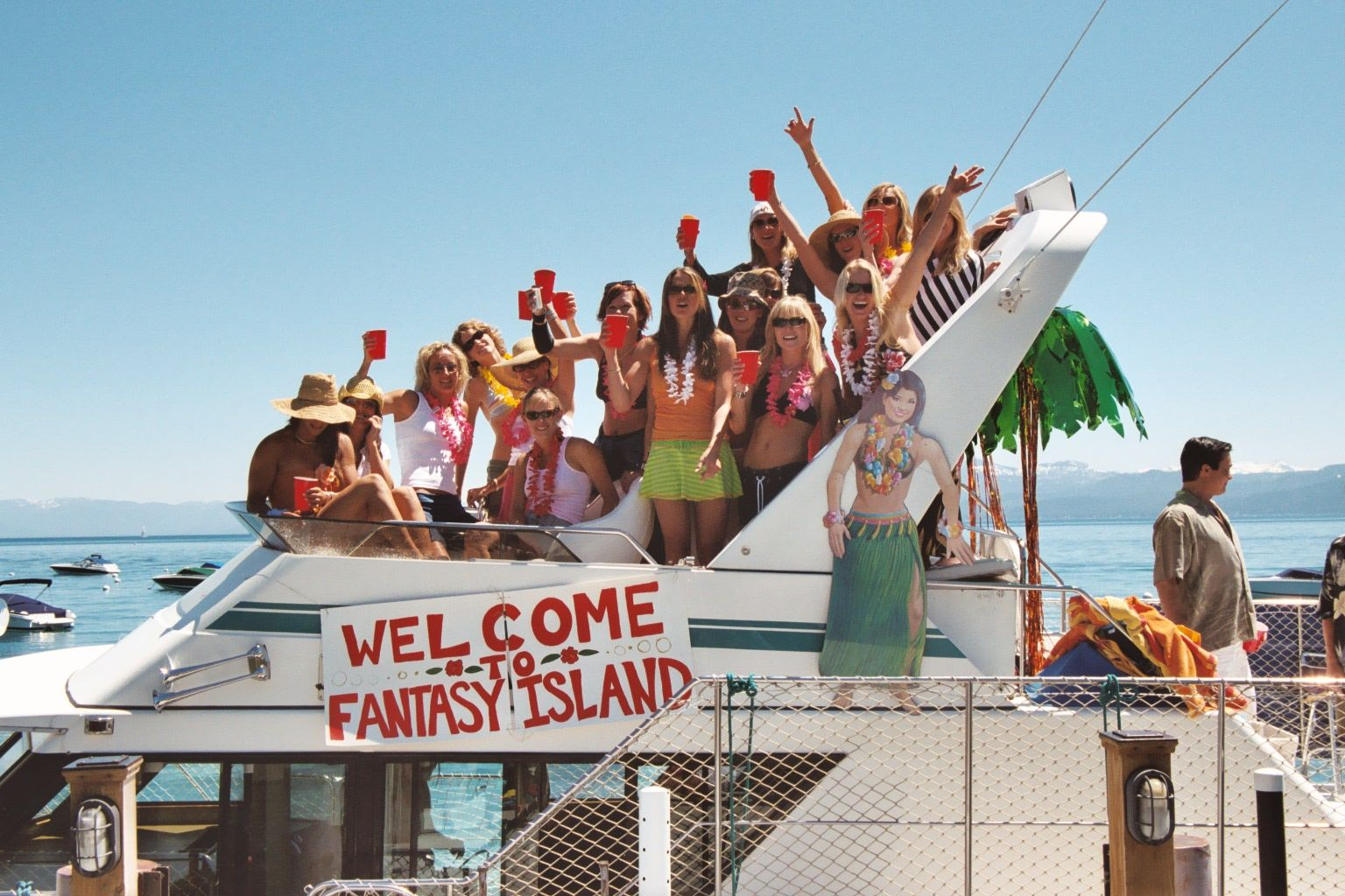 Aloha from the party boat tahoe bachelorette party