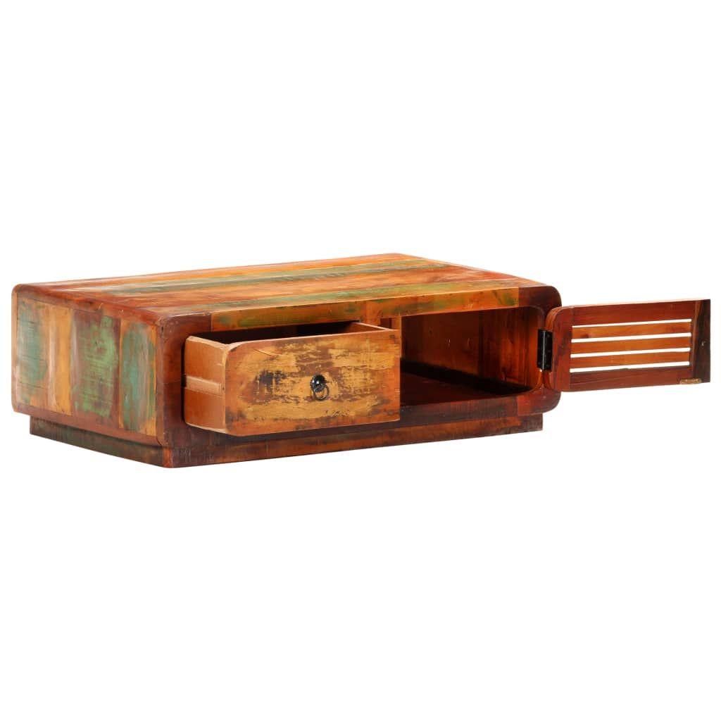 vidaXL Coffee Table 35.4″x23.6″x11.4″ Solid Reclaimed Wood