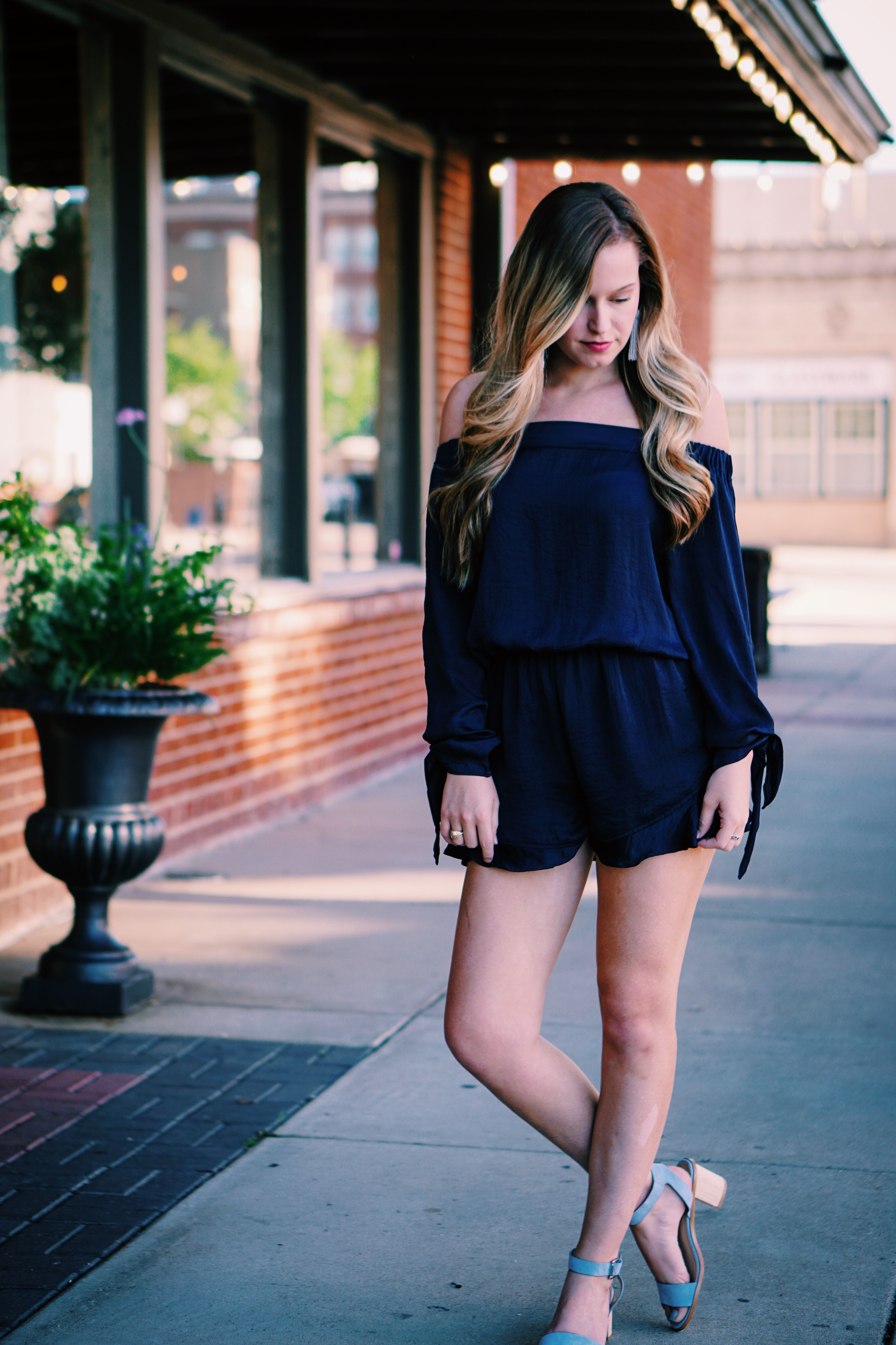26a303b2680 Midnight Sunset Romper with GoGo Whiskey Boutique