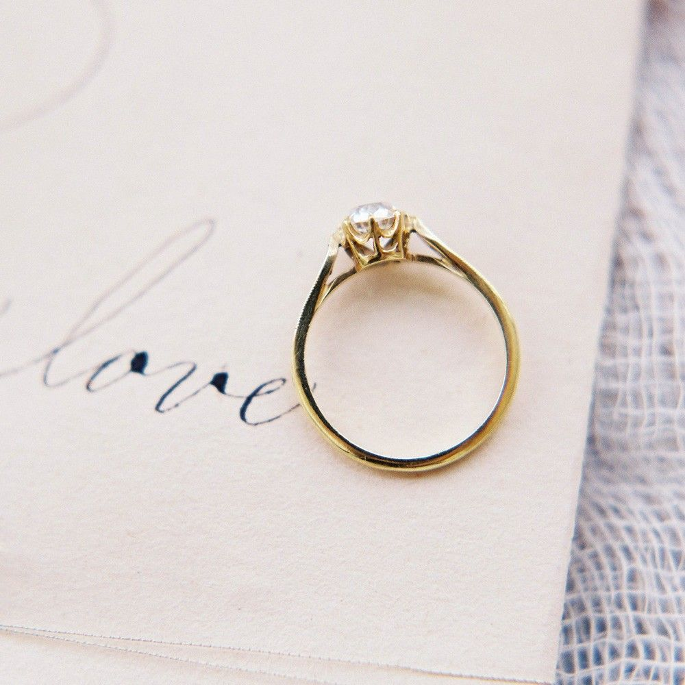 Vintage-inspired gold & diamond engagement ring <3 | never getting ...
