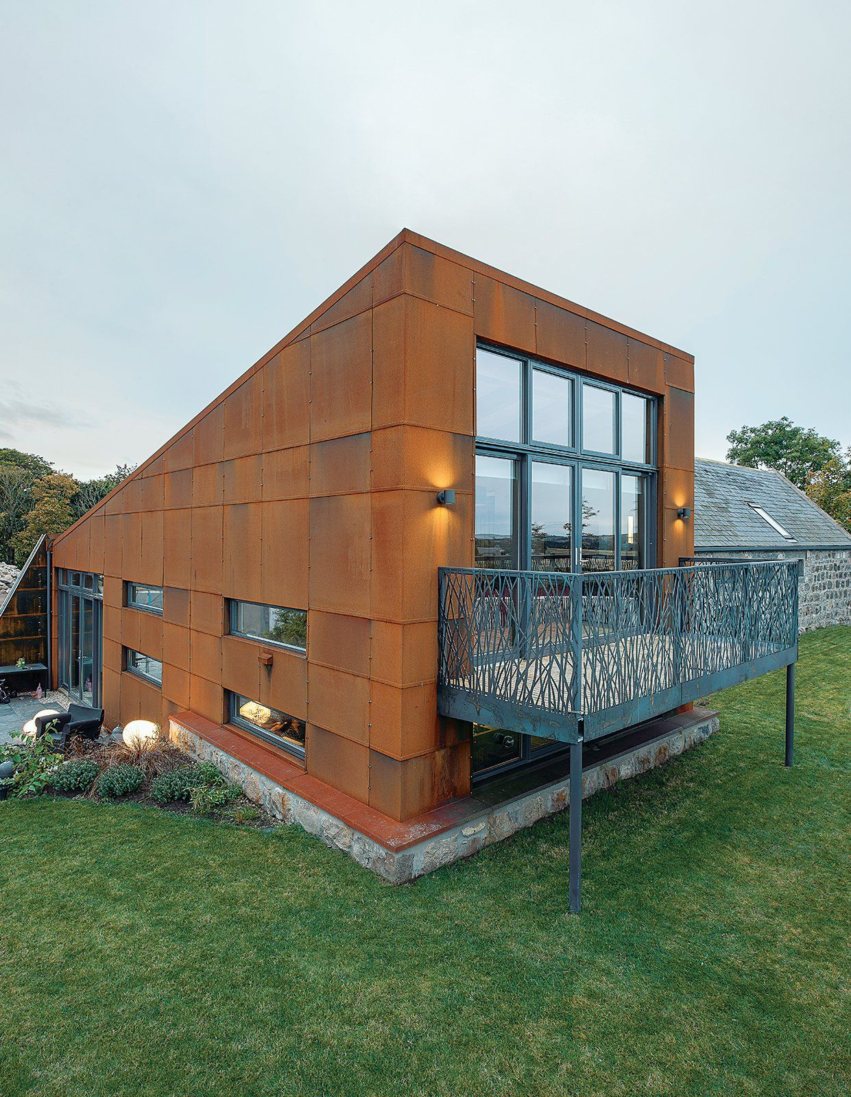 Knorr rentals ennis cloudiasouvenir - Affordable Kansas City Home Steel Facade With Cypress Cladding Architecture Small Pinterest Facades Steel And Architecture