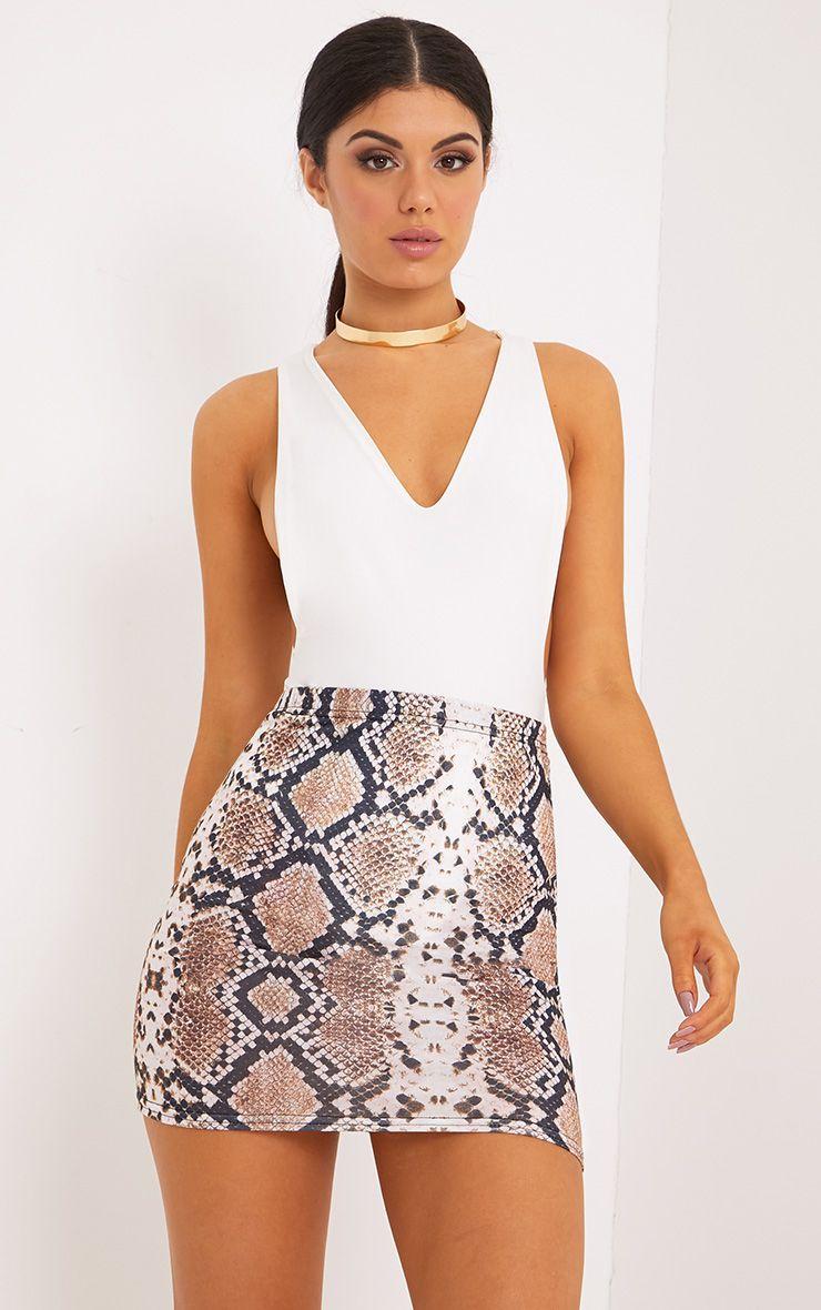 Cloressa Snake Print Mini Skirt | Mini skirts, Womens skirt, Printed skirt  outfit