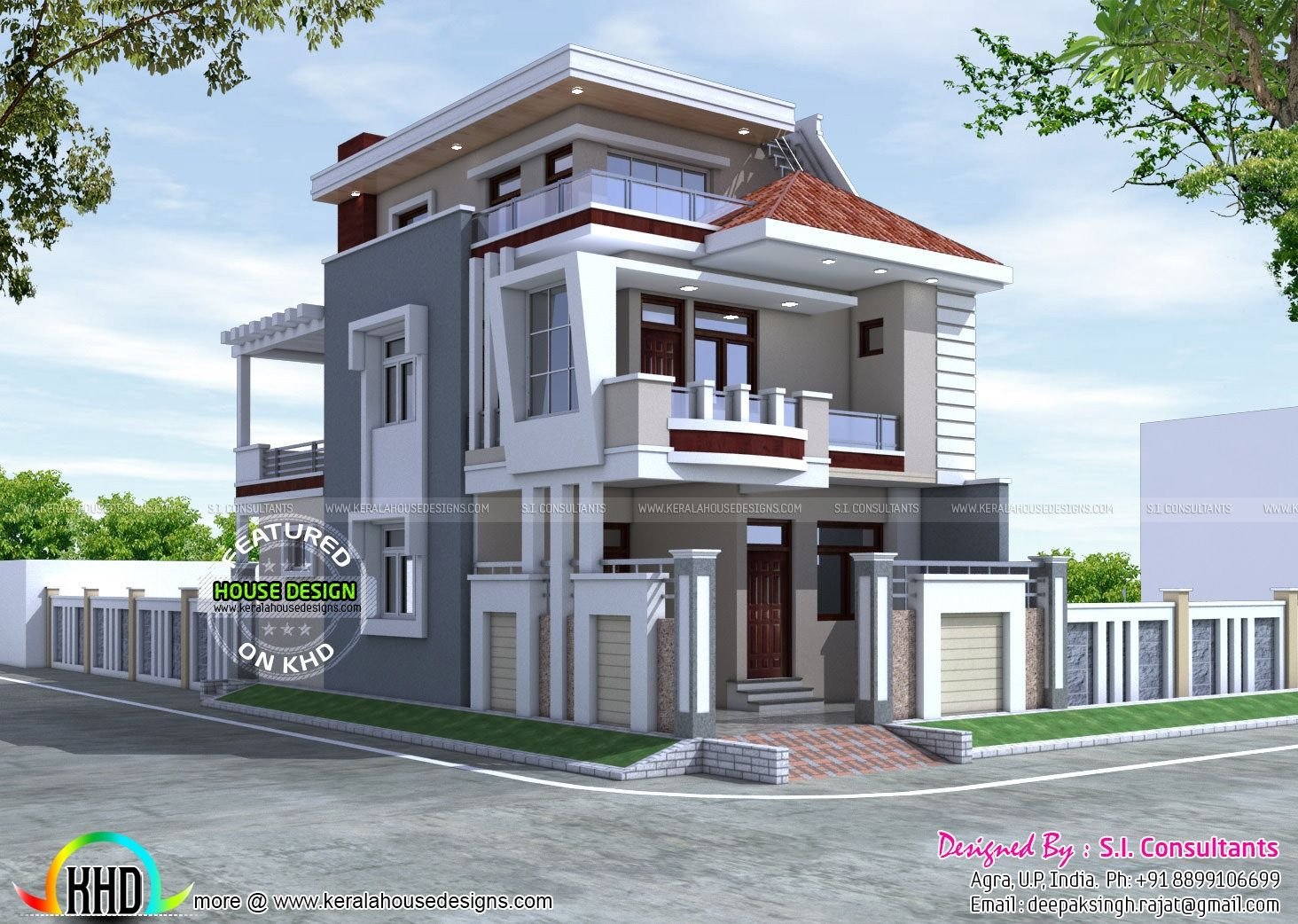 House Plan 25 X 50 Best Of 25x50 Beautiful Modern Home Kerala Home Design And Floor Kerala House Design Duplex House Design House Design Pictures