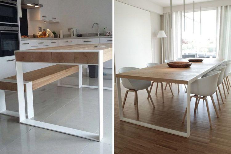 Tipos de mesas de comedor en la decoraci n casa for Mesas de salon extensibles de madera