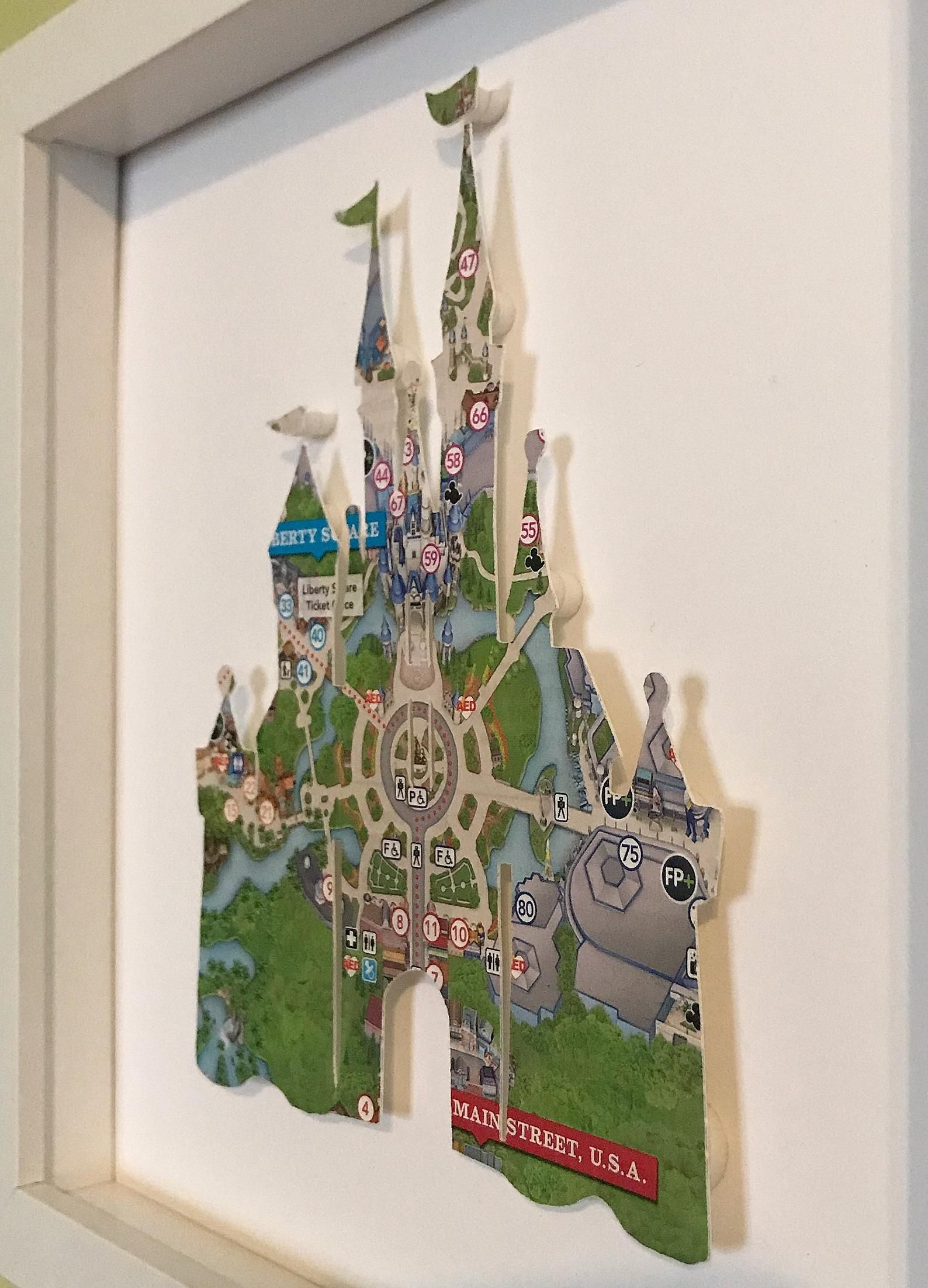 Cinderellas Castle, Magic Kingdom, Disney map wall