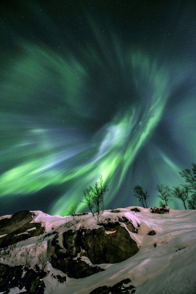 Grünes Leuchten: In Nordnorwegen Polarlichter zu sehen, ist ohne Frage...