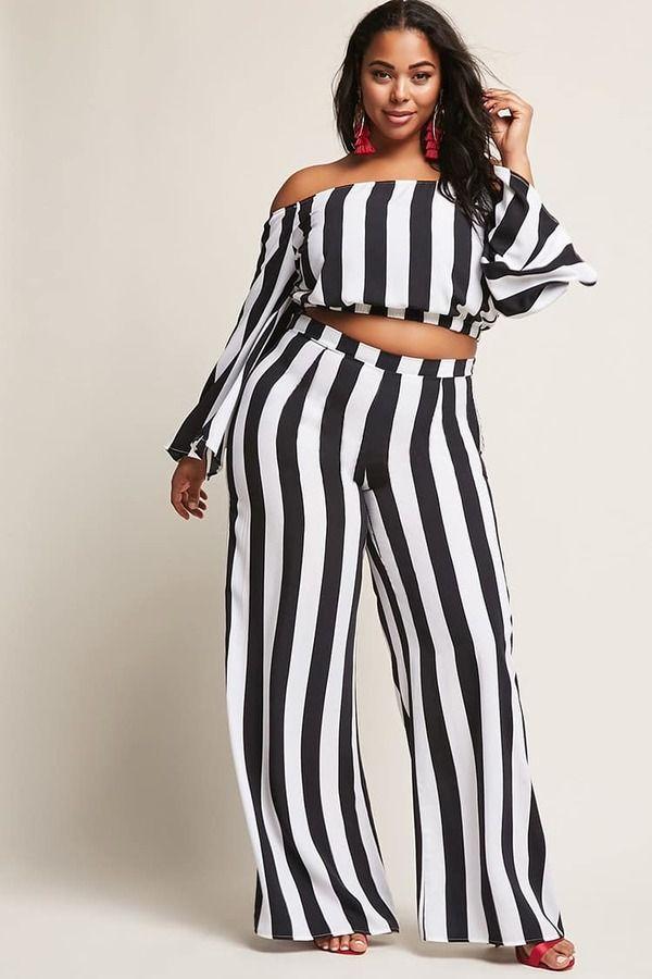 501e795f4c043 FOREVER 21+ Plus Size Stripe Wide-Leg Pants - ad