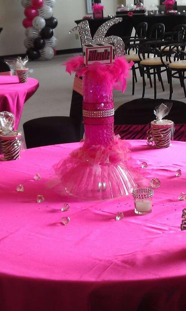 Pink Zebra Sweet 16 Birthday Party Ideas Photo 4 Of 10
