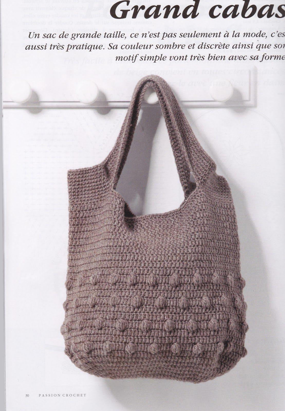créations crochet: sac crochet   Crochet   Pinterest   Tasche braun ...