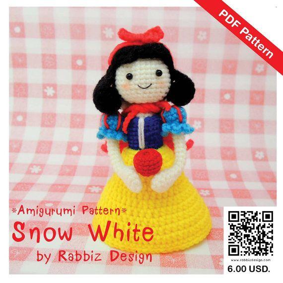 PDF Pattern - Amigurumi Snow White   Muñecos de ganchillo, Frikis y ...