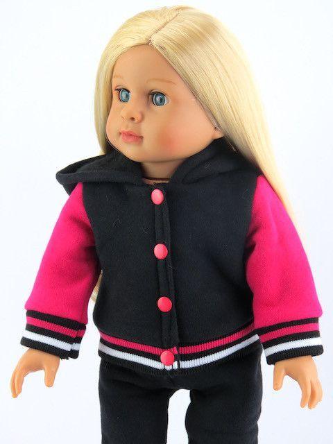 18 Inch Doll Varsity Style Pant Set