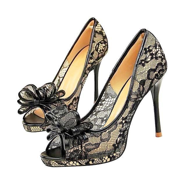Wedding Shoes Zippay: Beautiful Lace Heels! Natalia Bow Lace Heels (More Colors