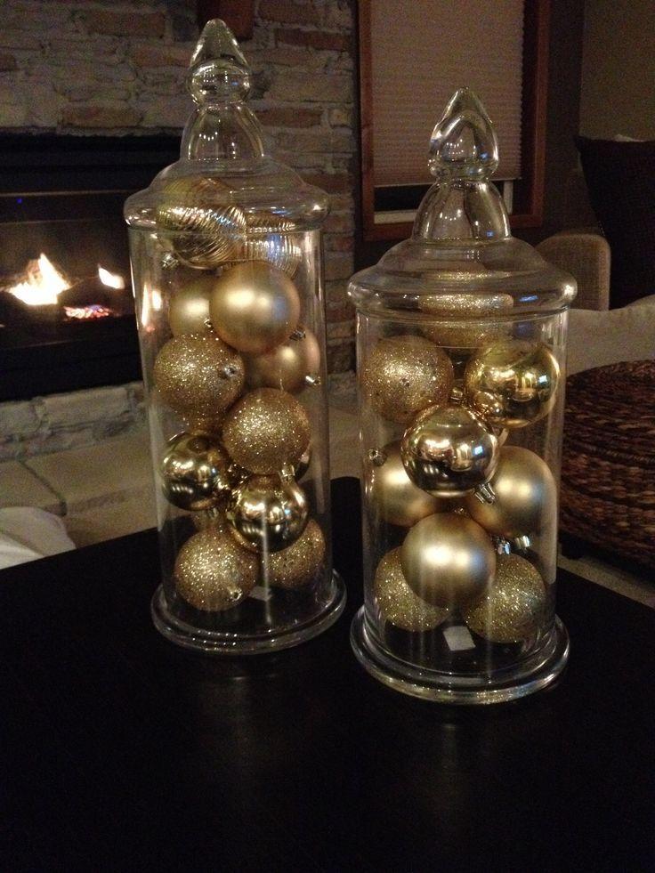 Decoracion para navidad en color Beige y dorado Decoracionnavidad