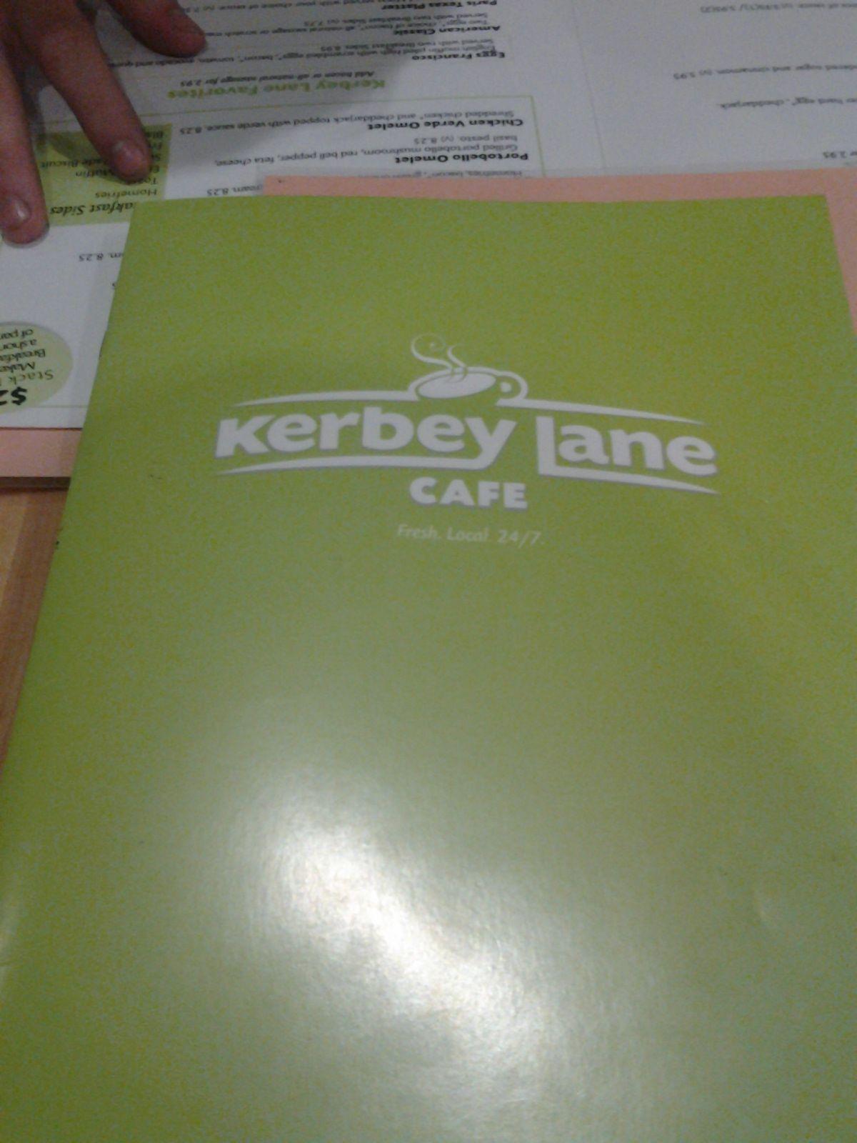 Kerby Lane menu!