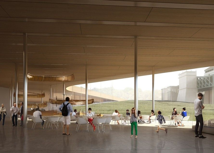 Green Roofed Canadian Canoe Museum Will House The World S Largest