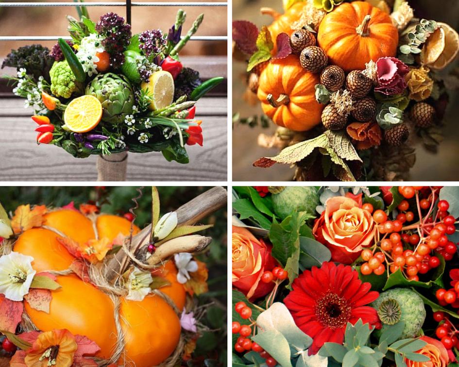 Букет с фруктами и цветами своими руками