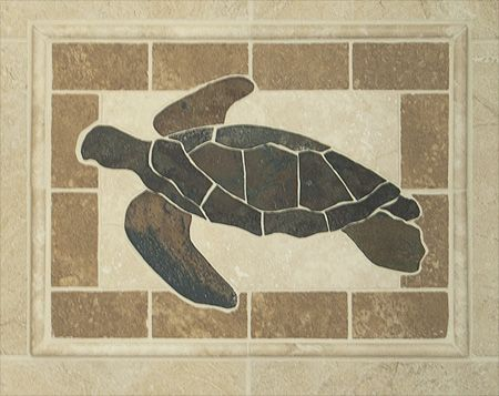 Custom Turtle Tile Mosaic Shower Stained Gl Mosaics Pinterest House And