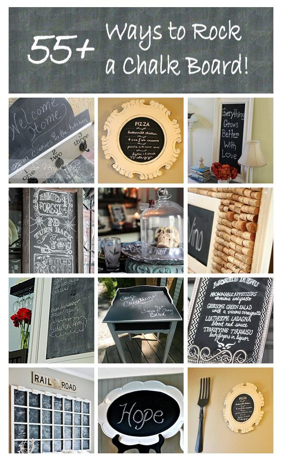 Home And Garden Diy Ideas Chalkboard Projects Chalkboard Crafts Crafty Diy