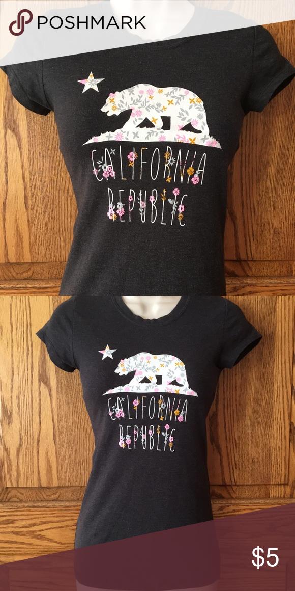 California Republic State Flag Heart Danville Baby T Shirt Zazzle Com California Republic Types Of T Shirts T Shirt
