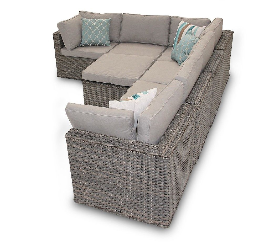 Garden Furniture Manchester Manchester rattan corner sofa 7 piece daybed set natural rattan rattan corner sofa garden furniture manchester 7pc natural daybed set workwithnaturefo
