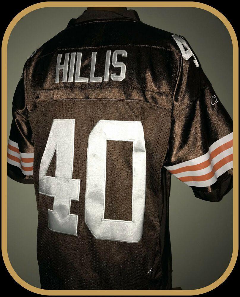 3956b16f CLEVELAND BROWNS PEYTON HILLIS REEBOK STITCHED ON FIELD JERSEY ADULT ...