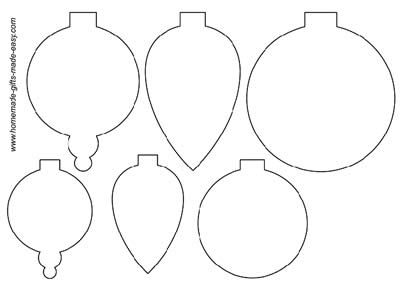 printable ornament shapes | Trace around your chosen template onto ...