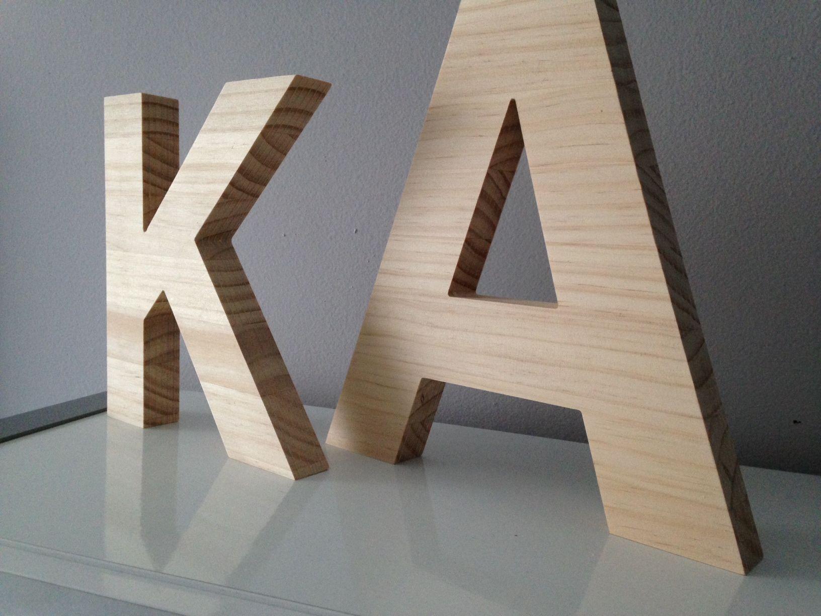Letras de madera decoraci n y rotulaci n pinterest - Letras en madera ...