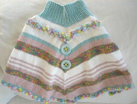 KNITTING PATTERN- Fun Toddler Poncho pdf file Knitting patterns, Ponchos an...