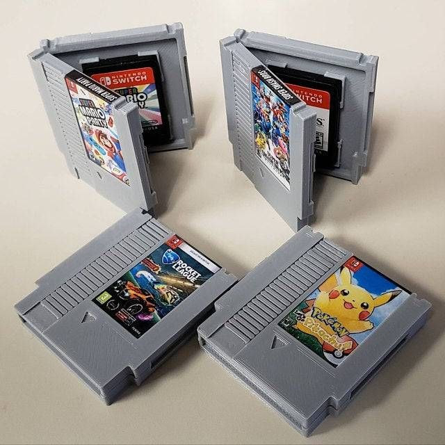 Mini NES Cartridge Switch Game Cases made by saybobby - #Miniature #2 #8 #art #botw #breath #crafts #cute #deluxe #games #gaming #geek #gifts #go #kart #league #let's #mario #merch #nes #nintendo #nostalgia #odyssey #of #party #pikachu #pokemon #retro #retrogaming #rocket #splatoon #Super #switch #the #video #vintage #wild #zelda