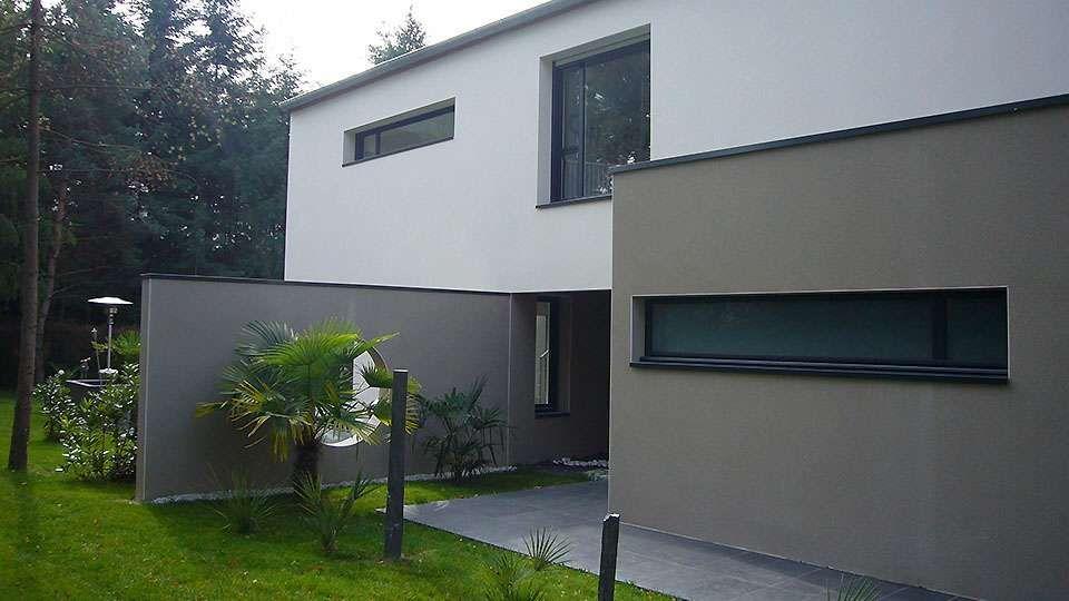 faade gris vert et blanche tollens - Facade Maison Grise Et Blanche