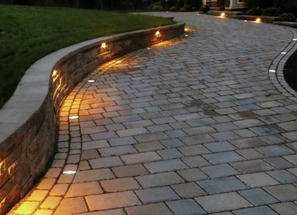 Top 40 Best Driveway Lighting Ideas - Landscaping Designs