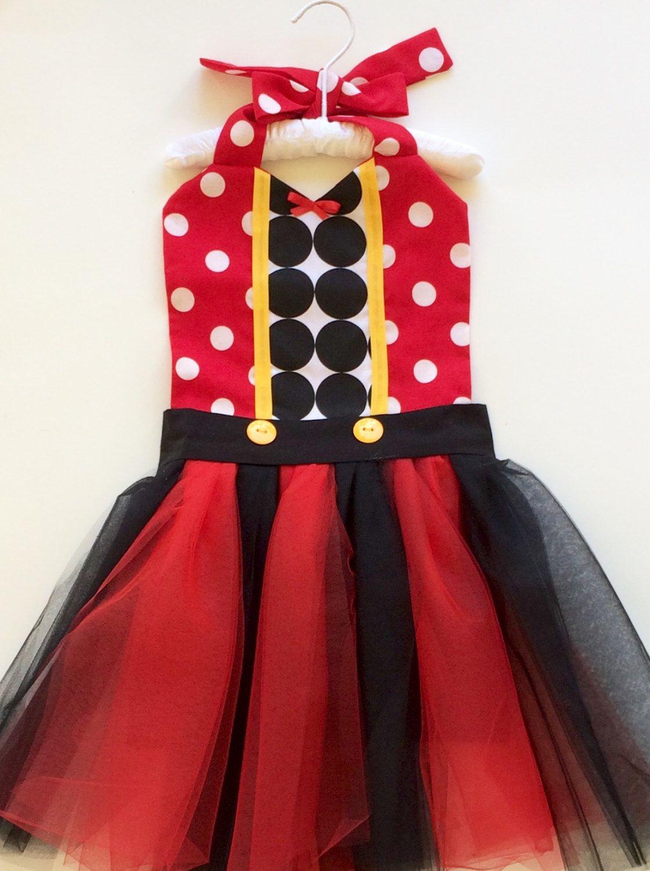 c62d94ec7adec MICKEY MOUSE APRON / Tutu Costume / Kids Disney Costume / Girls ...