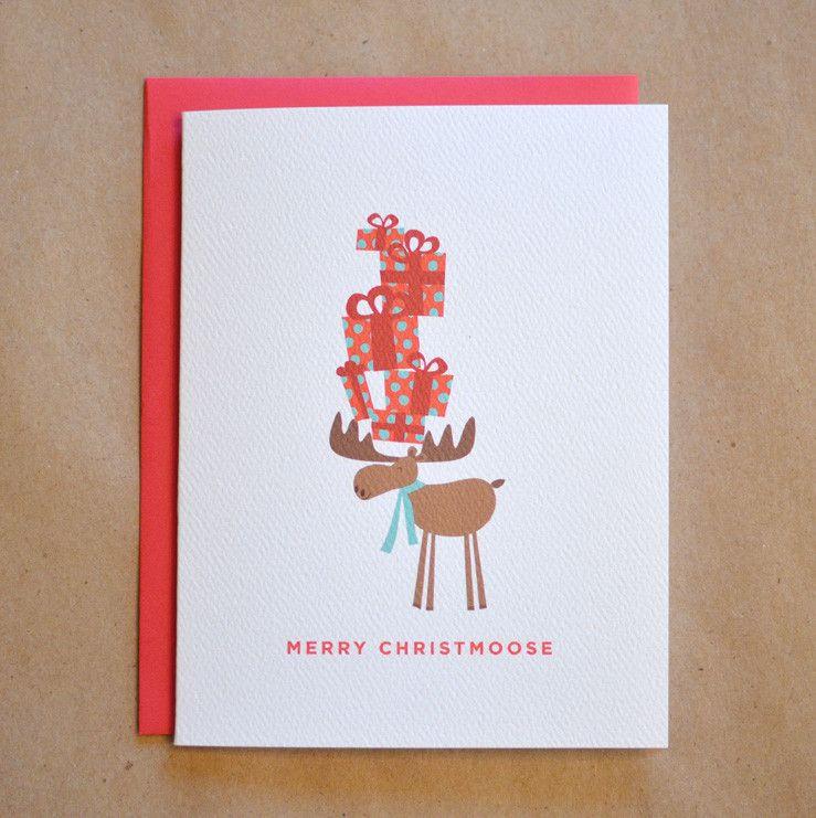 Merry Christmoose Moose Holiday Card | Elsie J | Pinterest | Merry ...