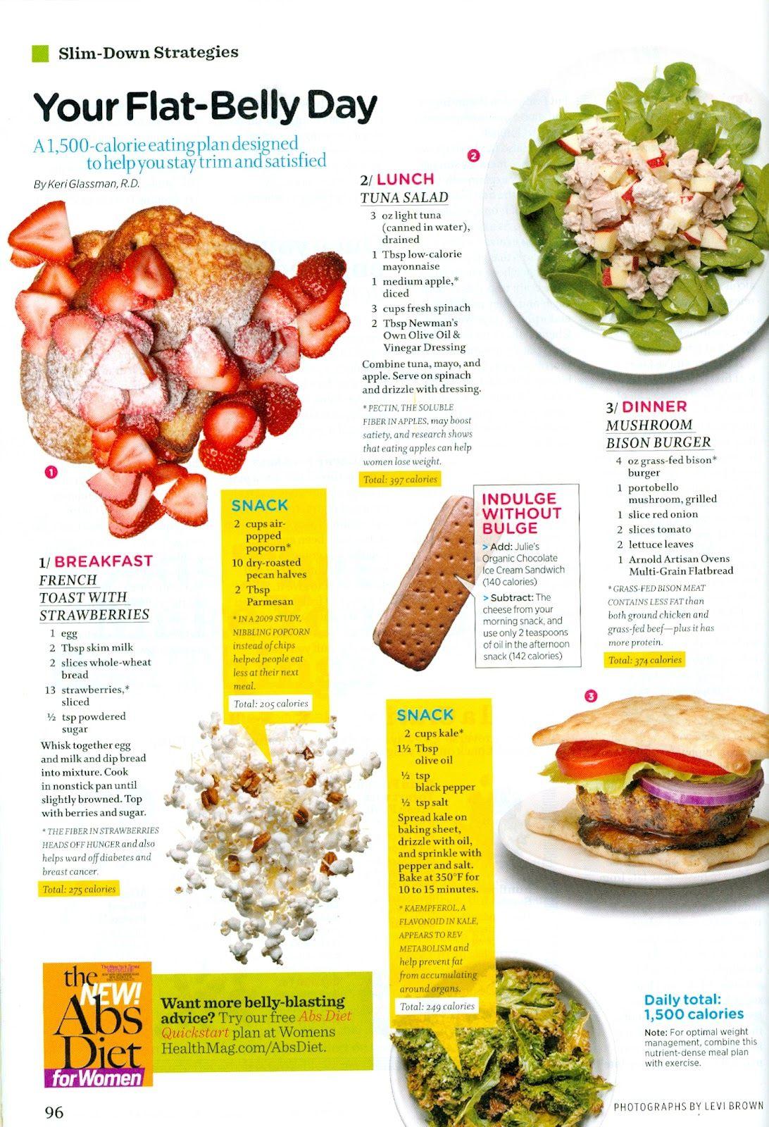 Weight Loss Aficionado Your Flat Belly Day Women S Health Magazine