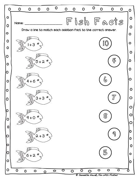 FREE Addition Math Station Worksheet & Noise Level Management ...