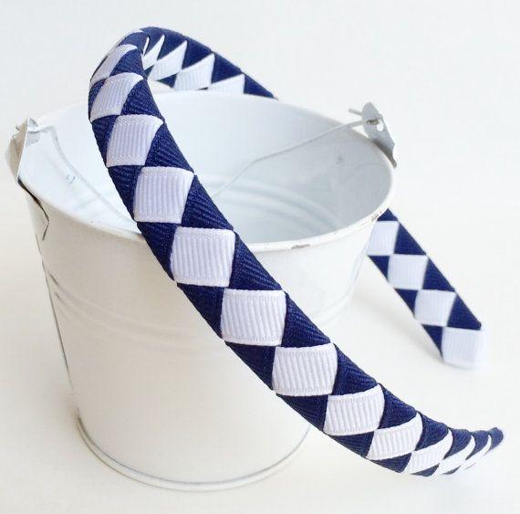 Hey, I found this really awesome Etsy listing at https://www.etsy.com/listing/162721825/navy-school-headband-girls-headband-half